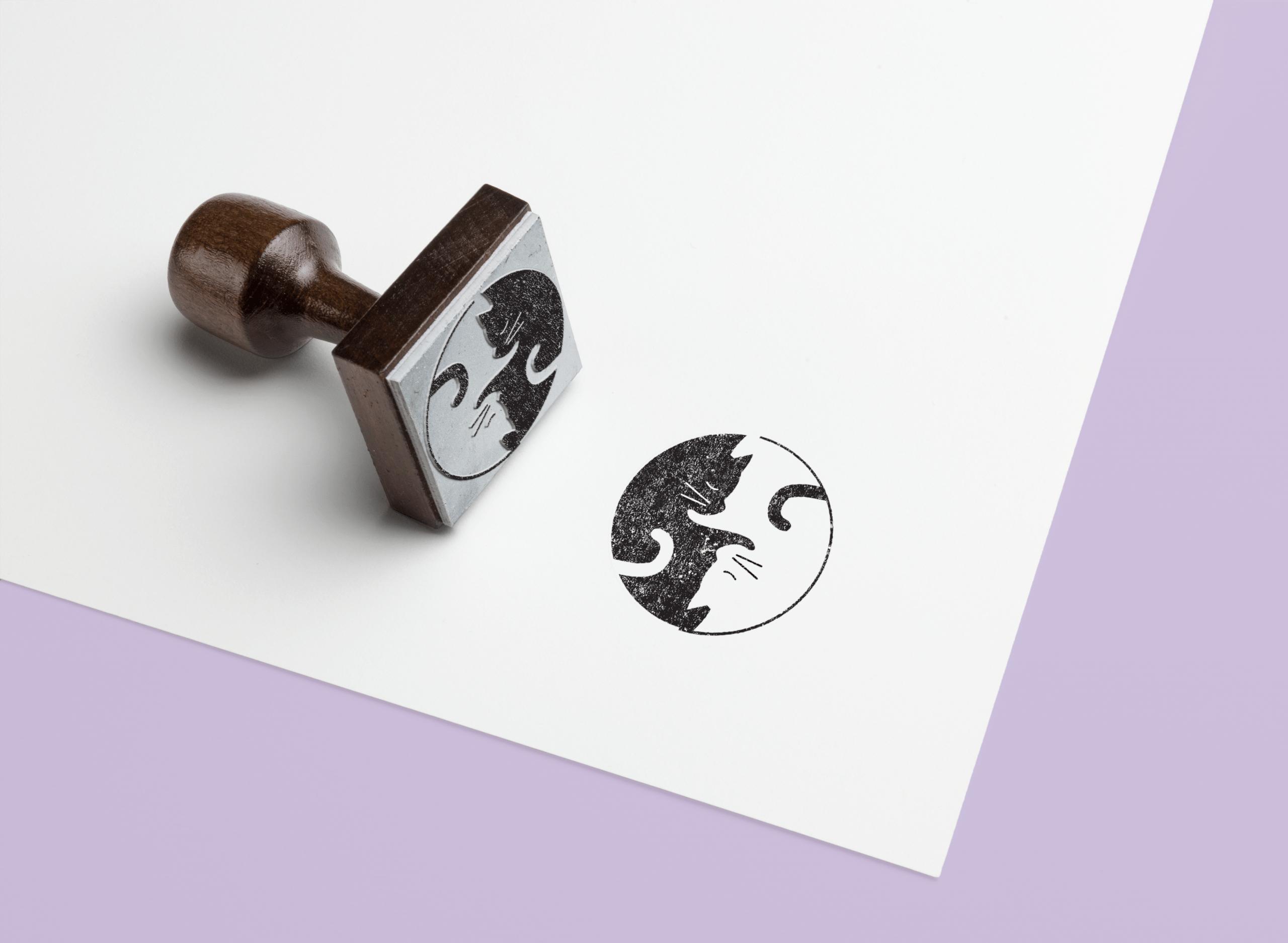 Mockup Logo chats yin&yang hover